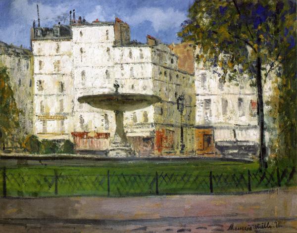Place Pigalle. Utrillo1910p
