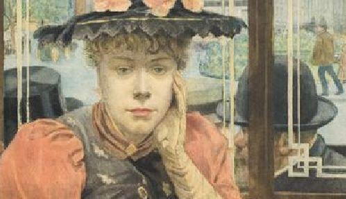 buveuse-d'absinthe-albert-emmanuel-bertrand-vers 1890 detail chapeaux