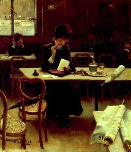01 jean-beraud Femme au cafe