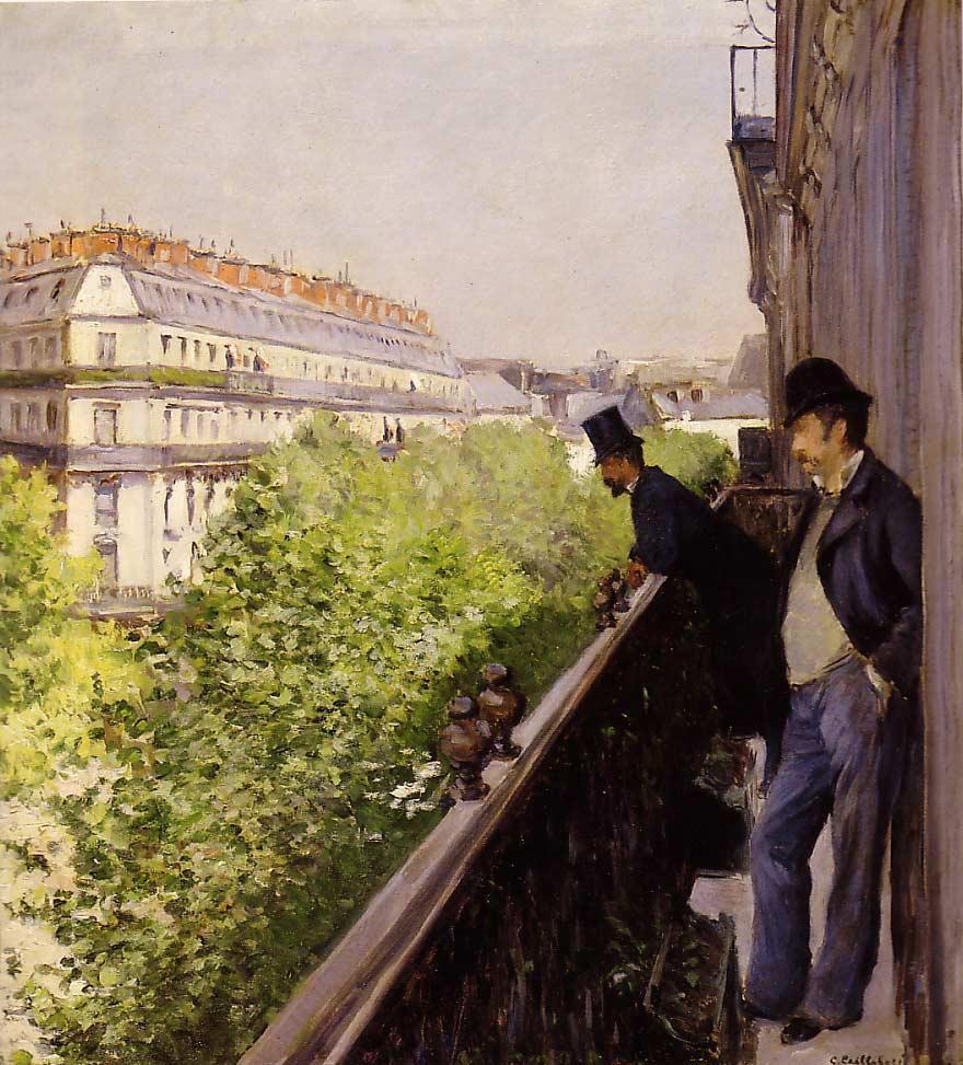 Caillebotte_-_Un_balcon_(1880)