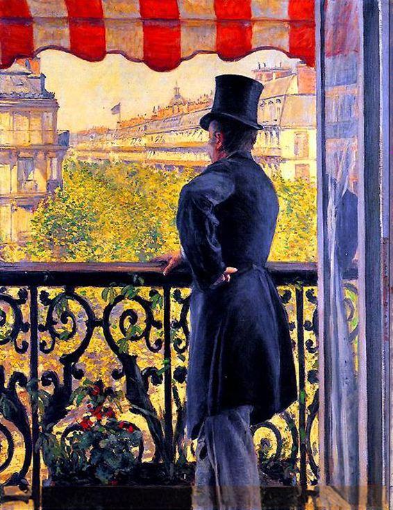 Caillebotte_Homme au balcon, boulevard Haussmann