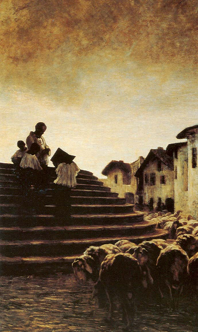 Segantini_1884_Benediction des moutons