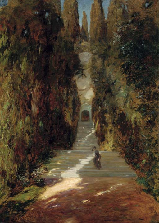 segantini_1885_Etude pour La premiere messe