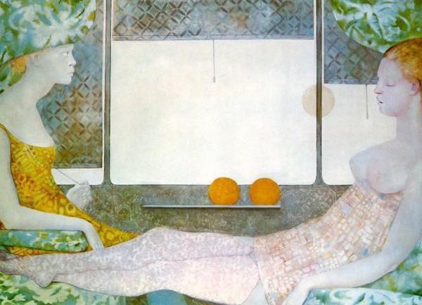 1966 Leonor Fini Le train blanc