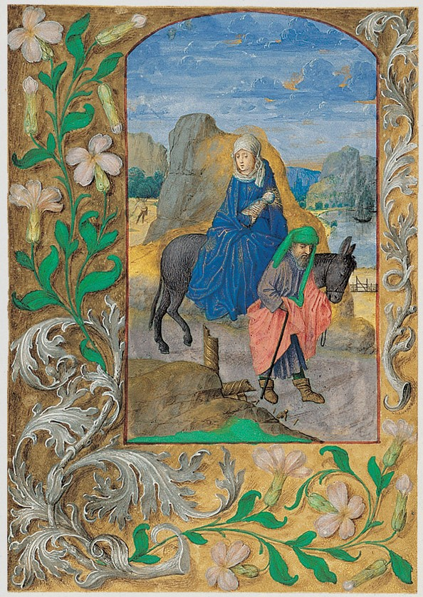 Book of Hours of Ferdinand and Isabella of Spain (Voustre Demeure) 1475 ca Fuite en egypte fol 167v