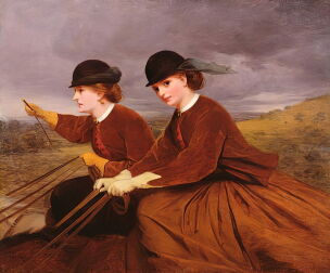 James Hayllar On_the_Downs_-_Two_Ladies_Riding_Side-Saddle