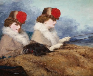 James Hayllar - Two Ladies in a Carriage Ride c.1860