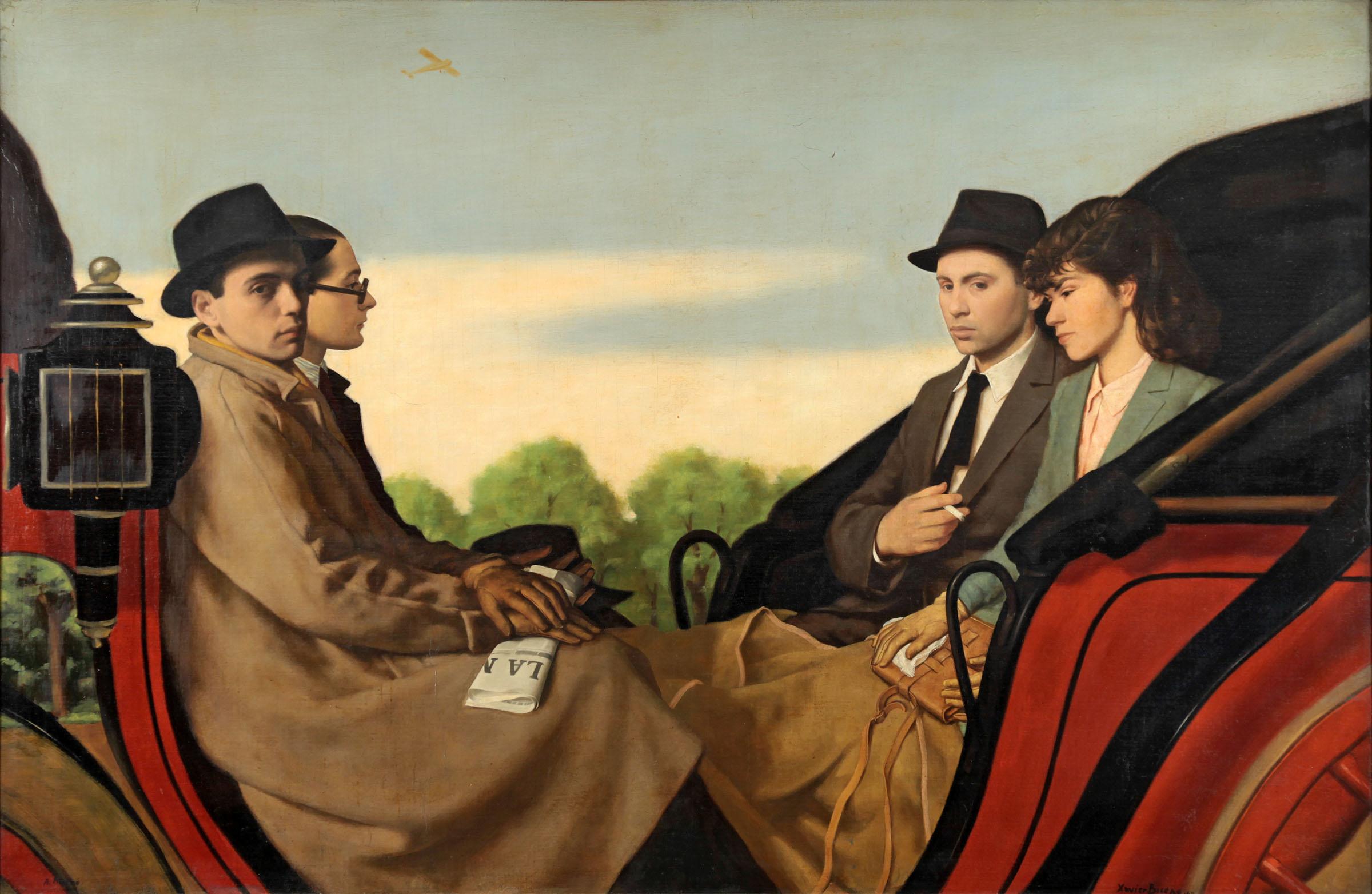 antonio-e-xavier-bueno- writer Julia Chamorel La carrozza, ovvero passeggiata alle cascine, 1942 Monza, collezione privata
