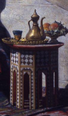 Lecomte_du_Nouy 1874_Le Songe de l'Eunuque_detail table