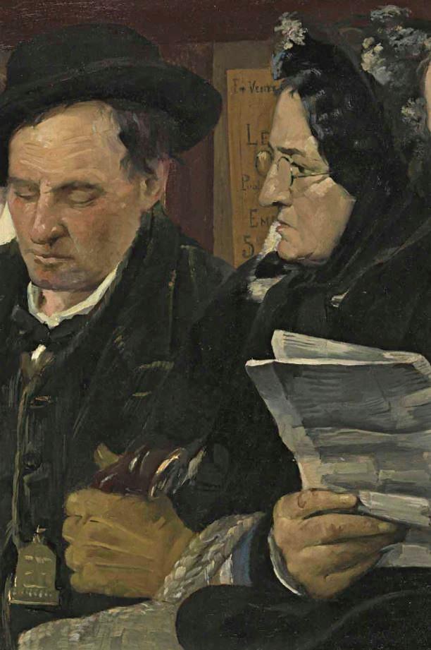 Pierre Carrier-Belleuse 1877 L'Omnibus coll priv detail