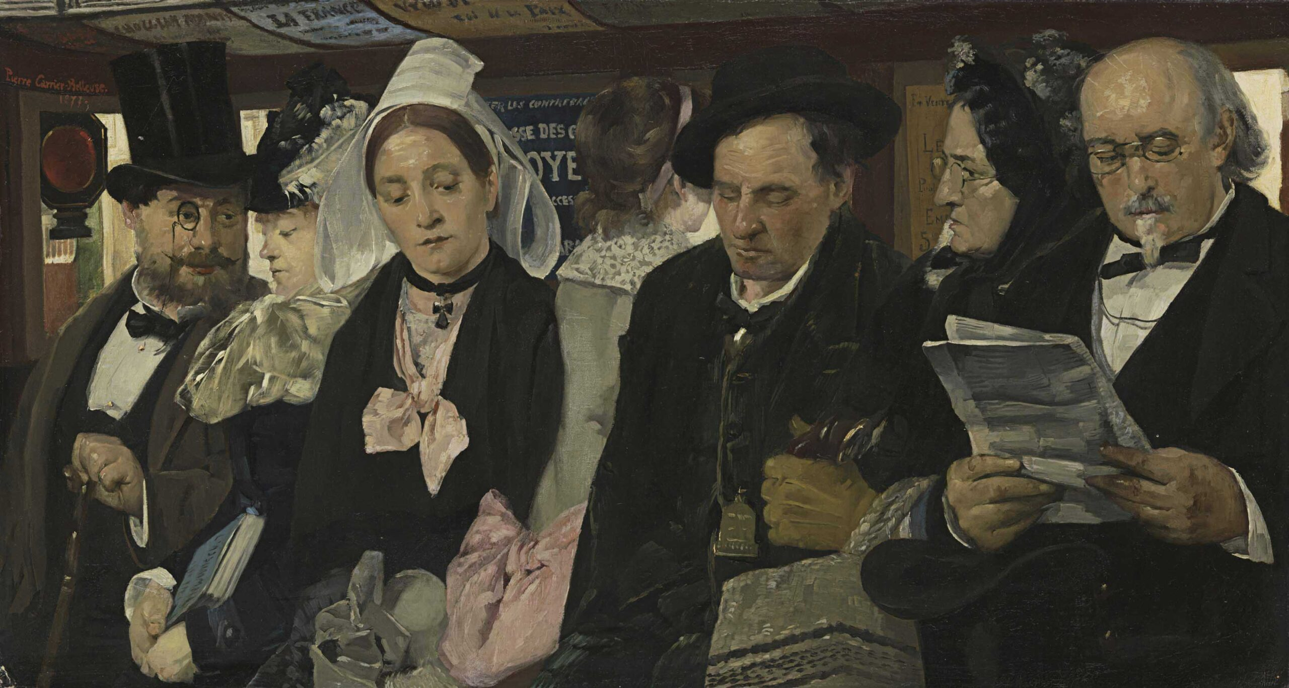 Pierre Carrier-Belleuse 1877 L'Omnibus coll priv