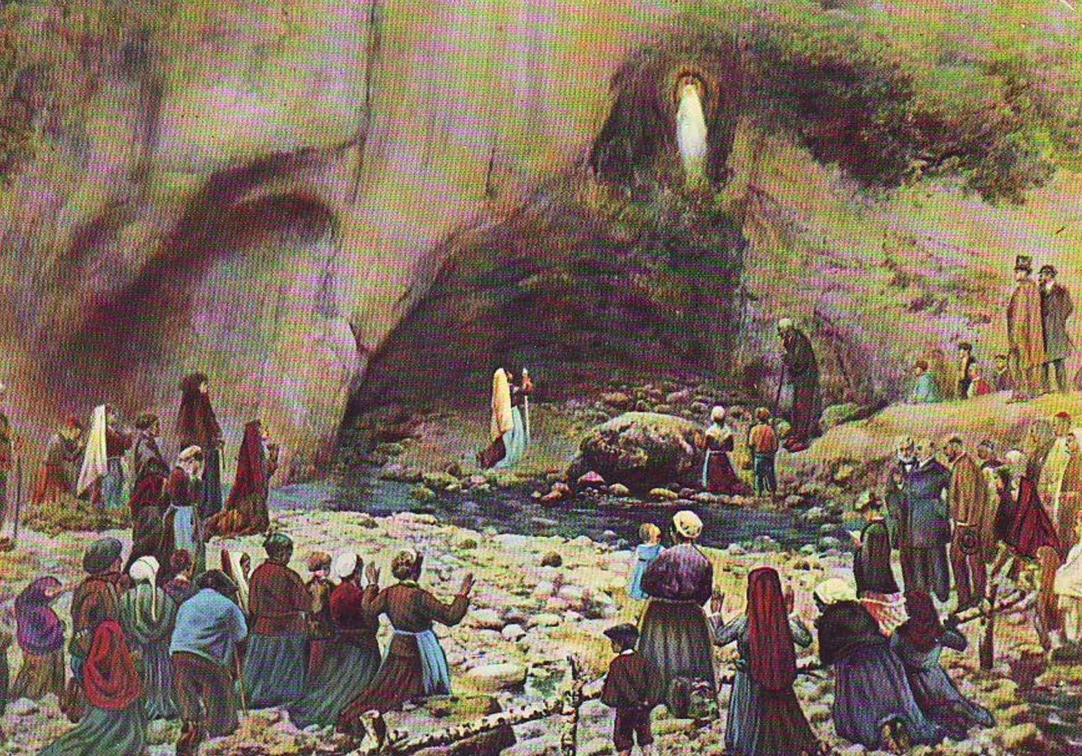 Pierre Carrier-Belleuse 1881 Panorama de ND de Lourdes detail