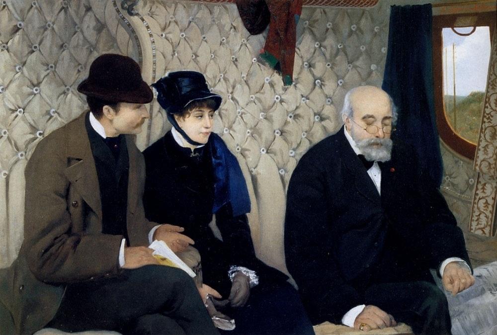Pierre Carrier Belleuse Le depart en voyage de noces 1915