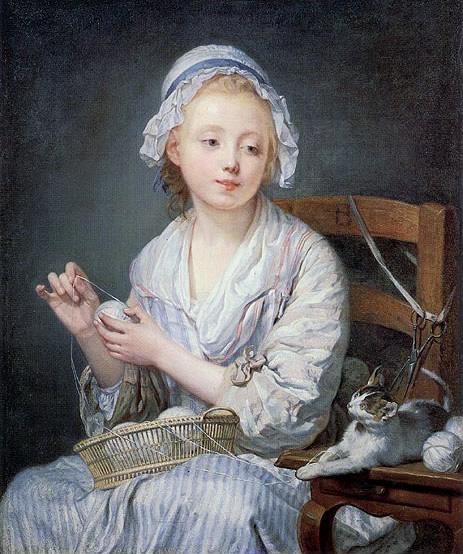Greuze The wool winder 1759
