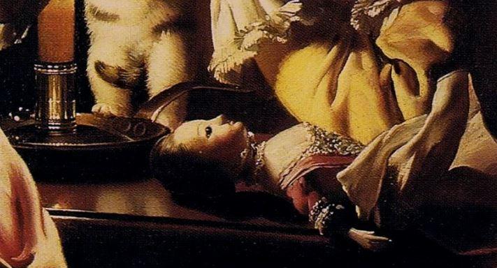 Joseph Wright of Derby Dressing the Kitten 1770 detail
