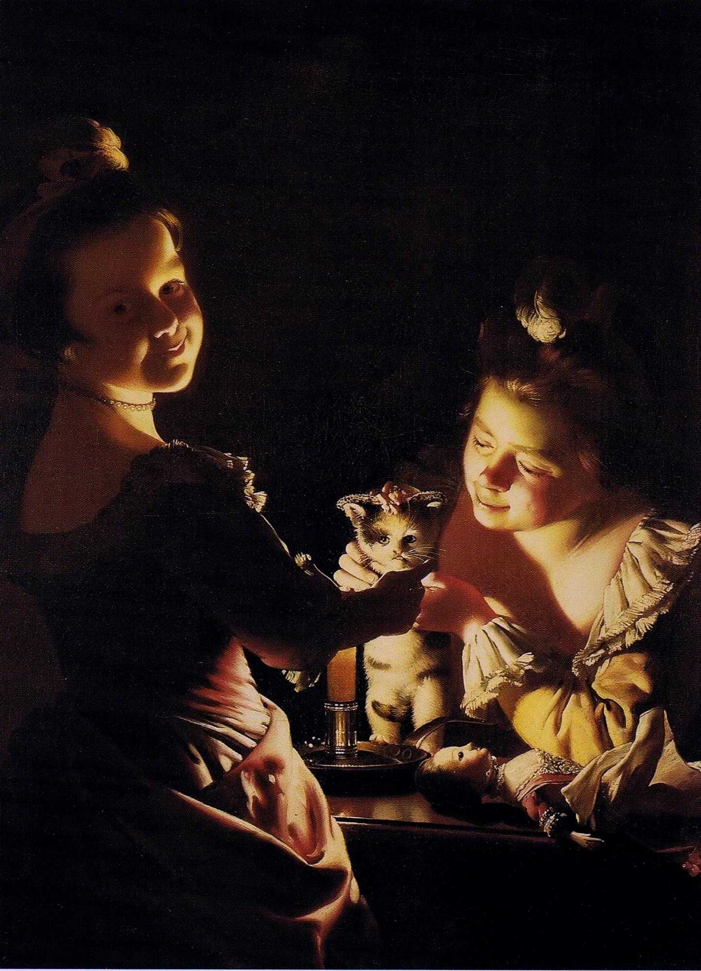Joseph Wright of Derby Dressing the Kitten 1770