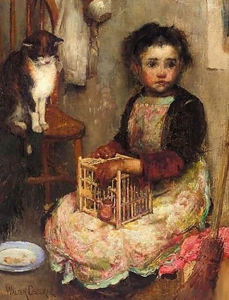 Walter Osborne small-girl-with-a-cat