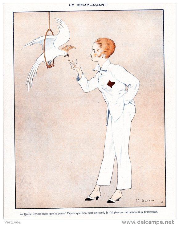 08715-edouard-touraine-1916-le-remplacant-parrot-hprints-com