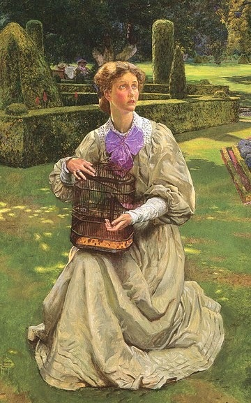 1907 John Byam Liston Shaw The Caged Bird