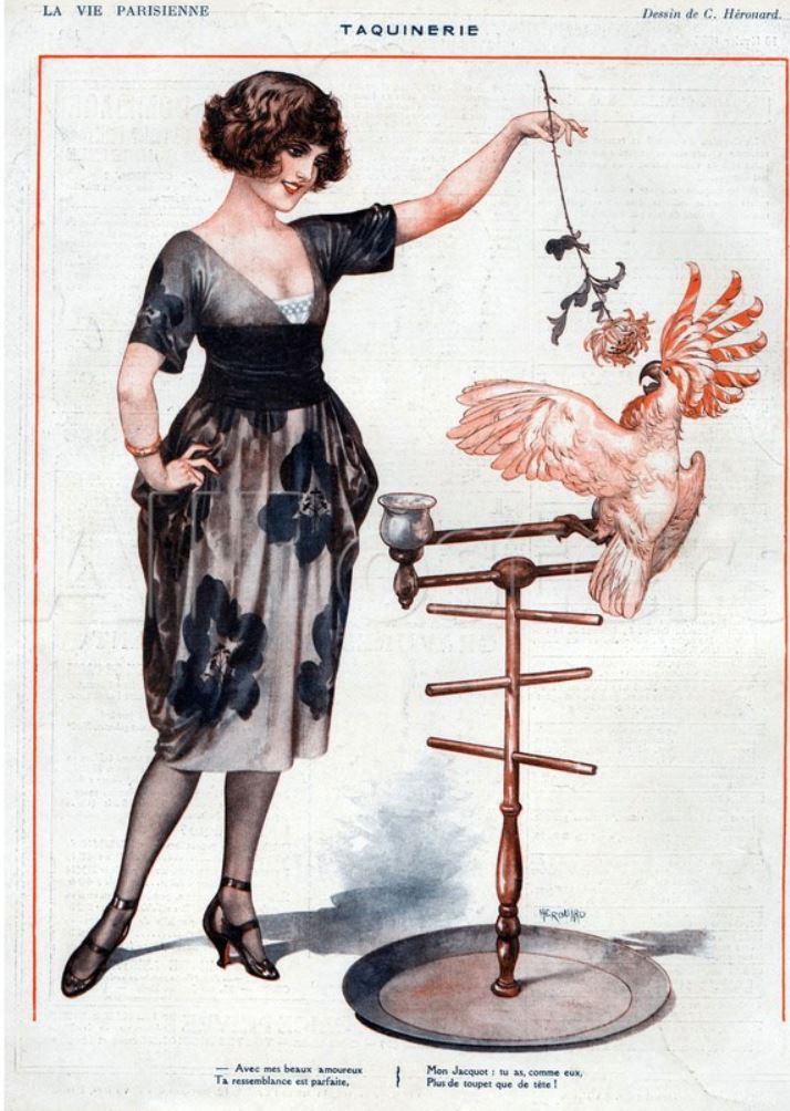 1922 - La Vie Parisienne Magazine Cheri Hedouard