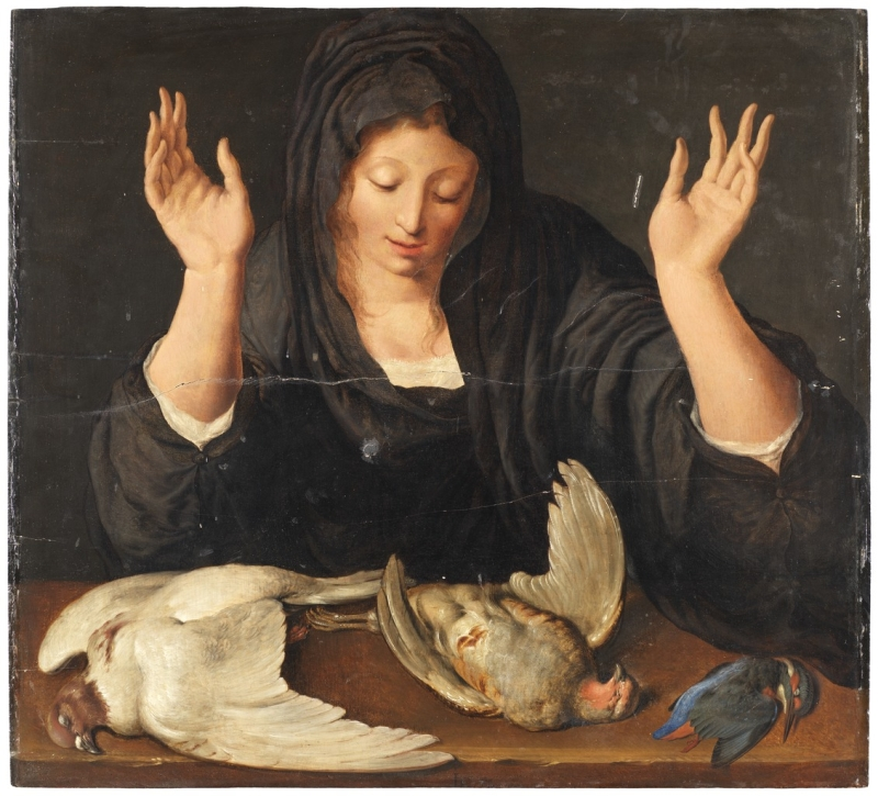 A-young-woman-mourning-a-dead-dove-a-partridge-and-a-kingfisher-Jacob-de-Gheyn-II-Nationalmuseum - Stockholm
