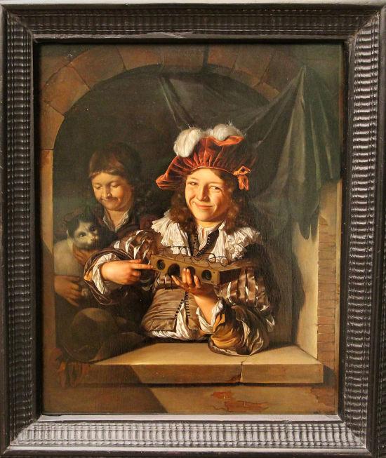 Adriaen_van_der_werff,_ragazzo_con_trappola_per_topi,_1676,_Gemaldegalerie alte meister, Berlin