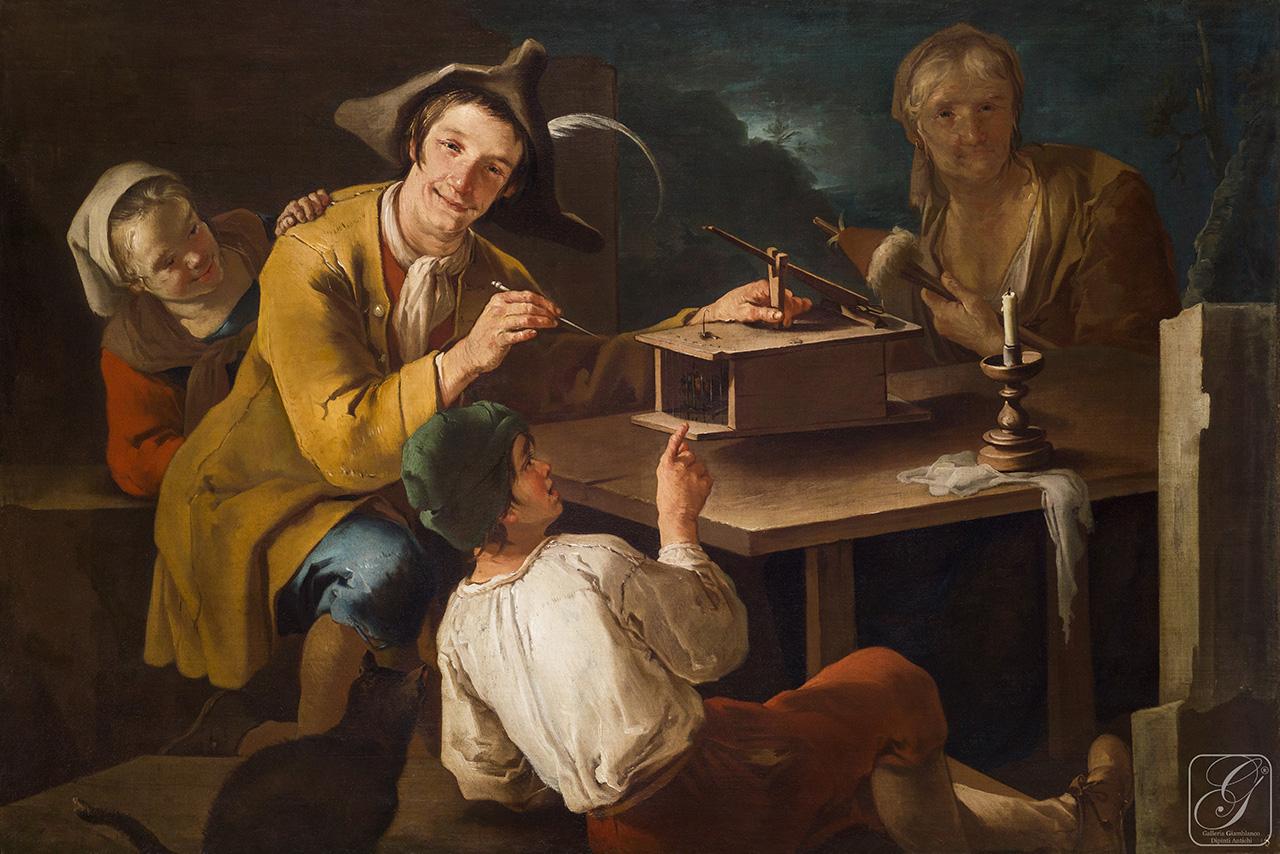 Cipper A vers 1720 SCENA DI GENERE coll priv photo Galleria Giamblanco Milano