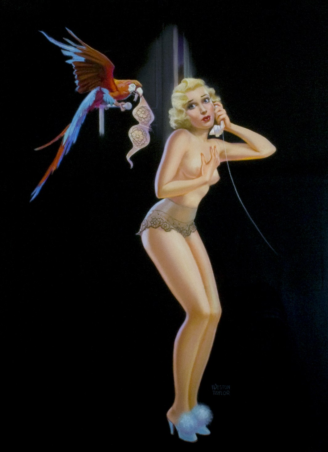 Disconnected, Weston Taylor, 1942, Calendar Art for The C. Moss Company