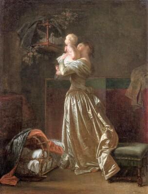 Fragonard 1785 L oiseau cheri Musee Fragonard Grasse