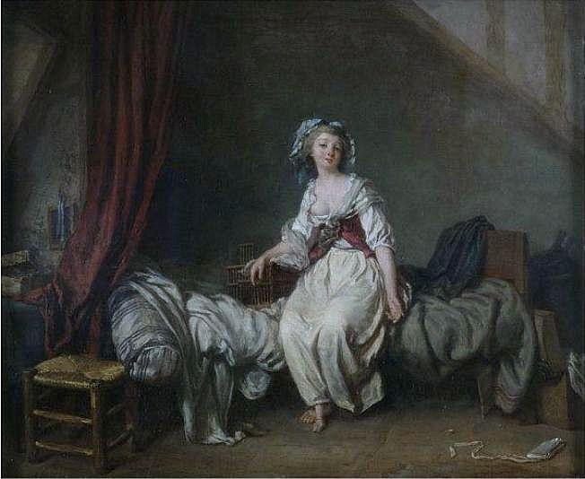 Schall Girl with a Birdcage Seated on a Bed Victoria and Albert Museum