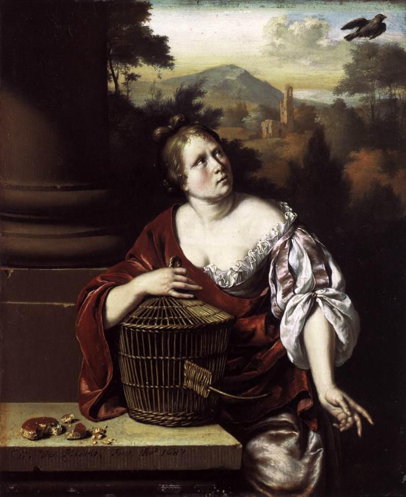 Willem_van_Mieris_-_The_Escaped_Bird