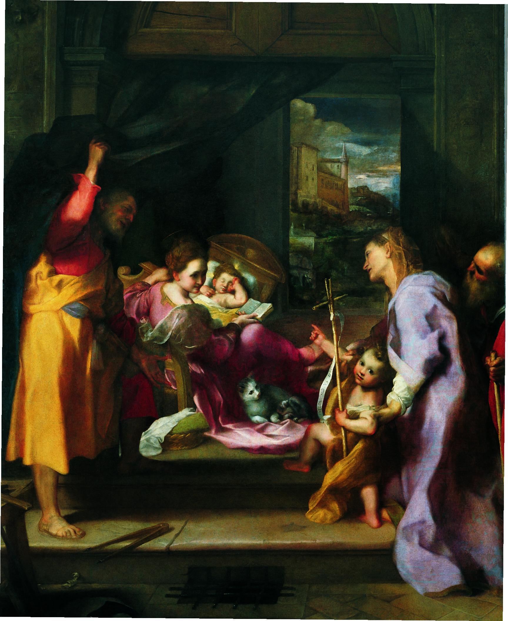 Barocci_Madonna_della_Gatta 1596 Musee des Offices