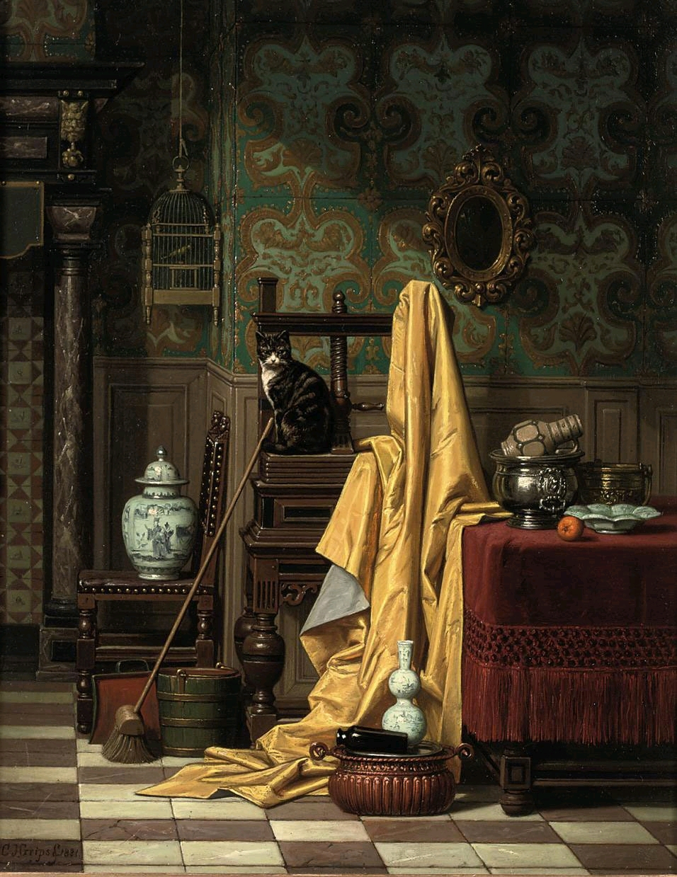 Charles_Joseph_Grips_-_A_Domestic_Interior,_1881
