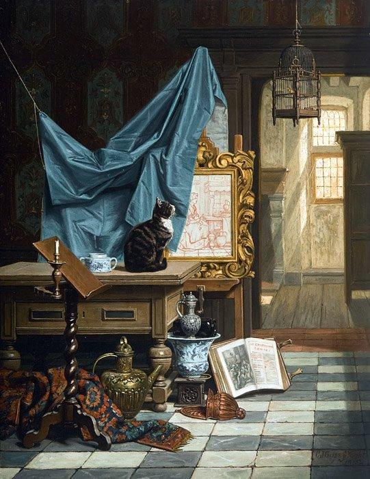 Charles_Joseph_Grips_-_The_Artist's_Studio,_1882