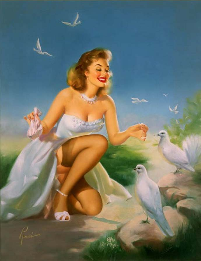 Edward Runci pinup annees 1950