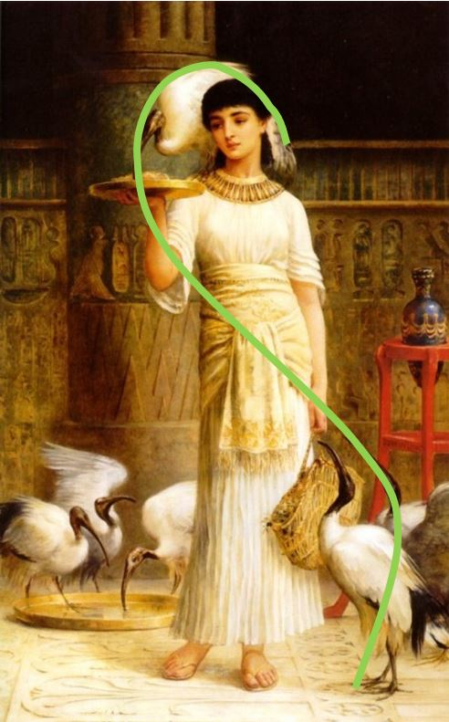 Edwin Long_Alethe_Attendant_of_the_Sacred_Ibis_in_the_Temple_of_Isis_schema