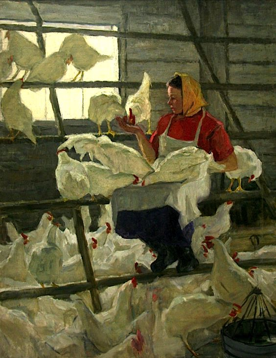 Feeding the Chickens, Antonina Dolinina 1965 coll part