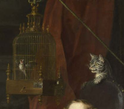 Hogarth_1744 Graham Children chat oiseau