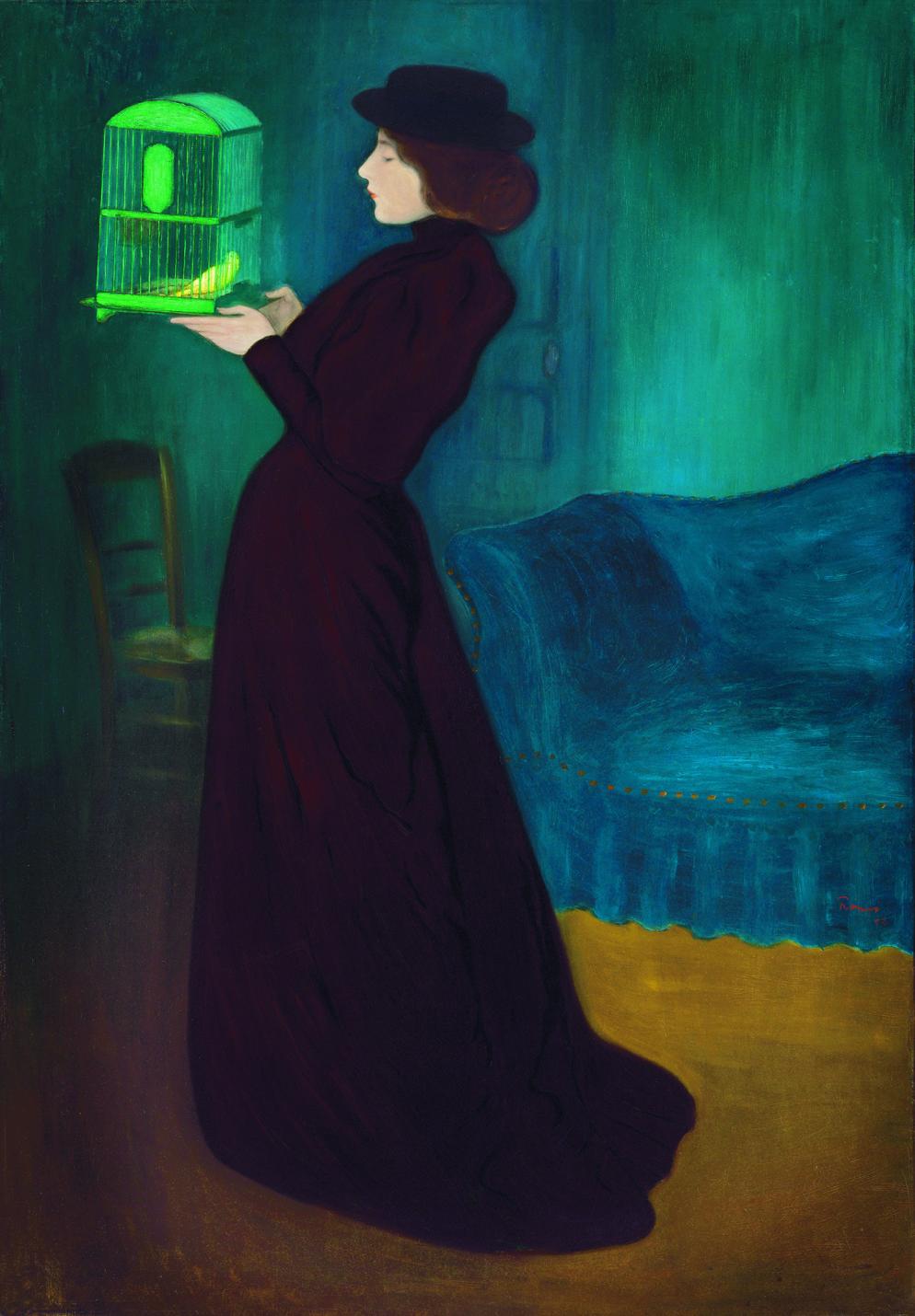 jozsef-rippl-ronai-femme-a-la-cage-1892-huile-sur-toile-budapest-galerie-nationale-hongroise