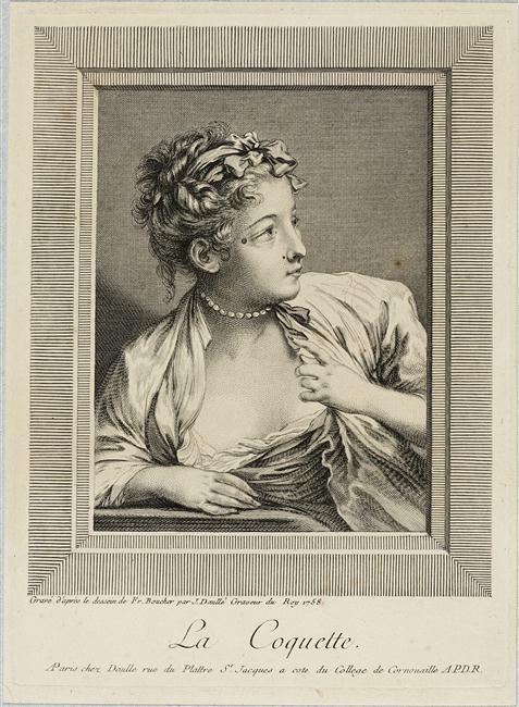 La coquette gravure de Daulle d apres Boucher
