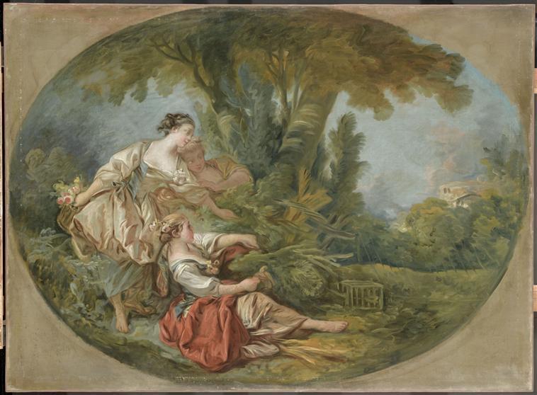 L'appeau, dit L'oiseau pris dans les filets Boucher, Louvre