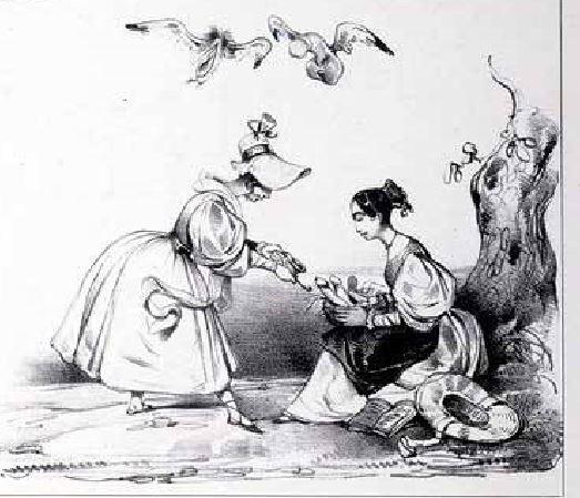 Le Poittevin, Eugene Charges et Decharges diaboliques. Par un concitoyen, Paris, Guerrier, 1830 extrait planche 12
