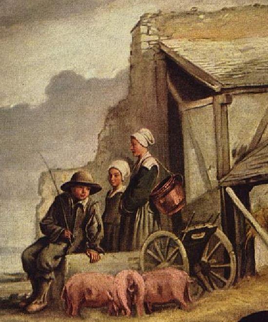 Le nain Les Enfants à la Cage-charrette detail