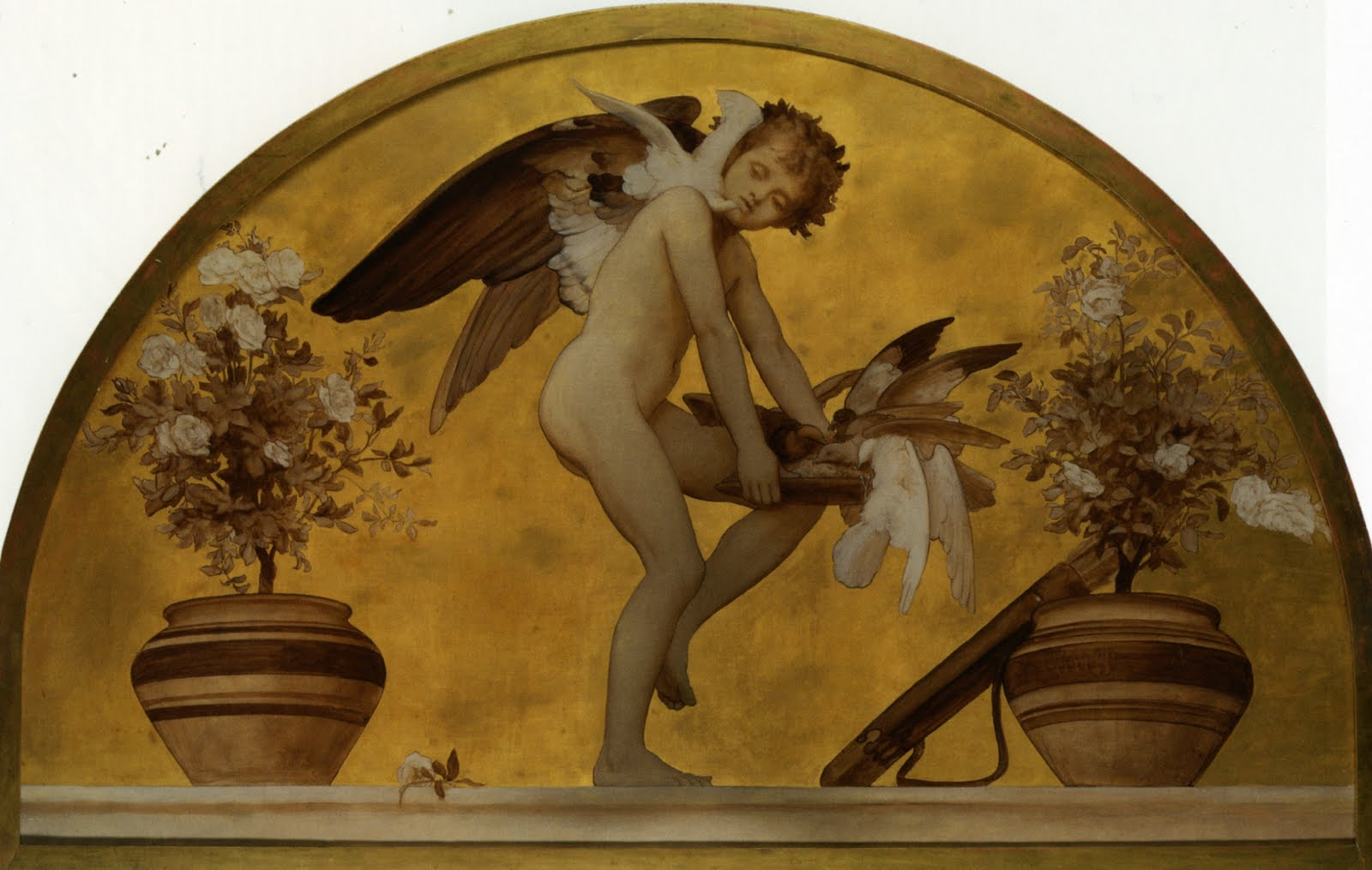 Lord Frederic Leighton Cupid_and_Doves arc