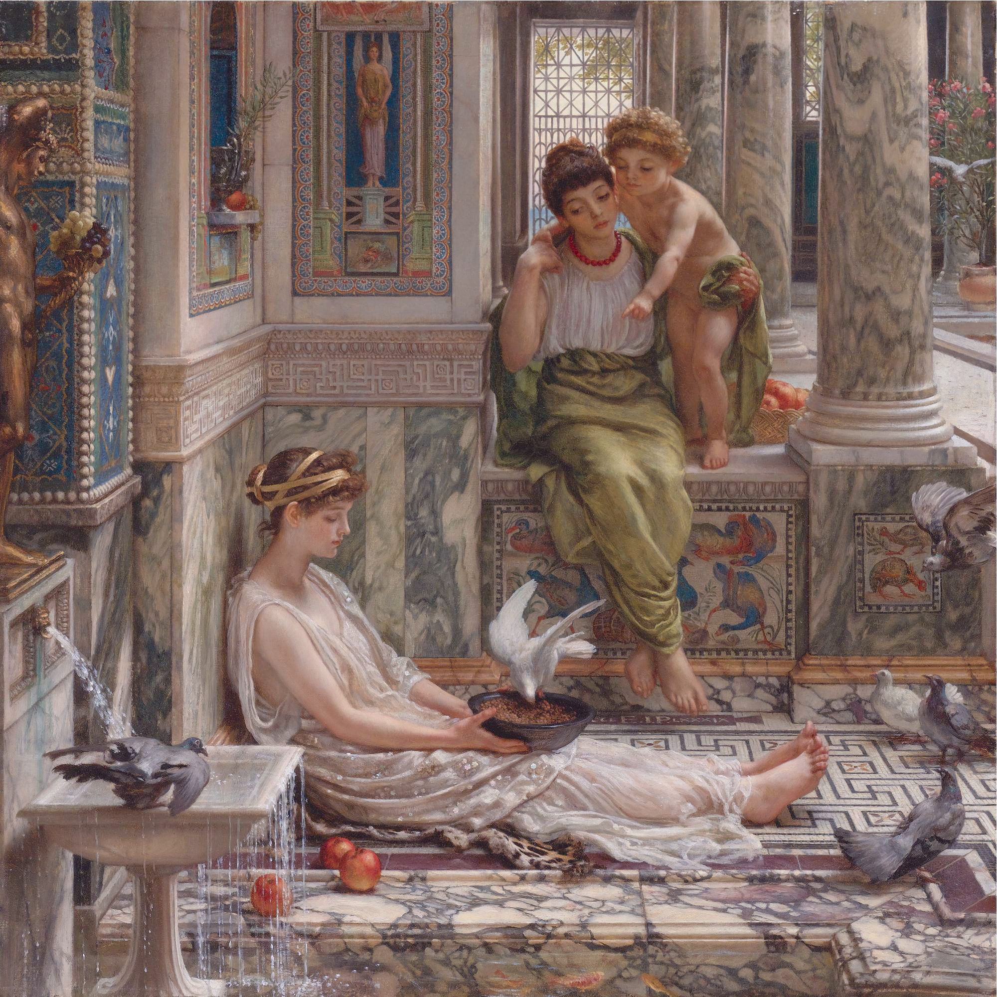 The corner of the villa, by Edward John Poynter
