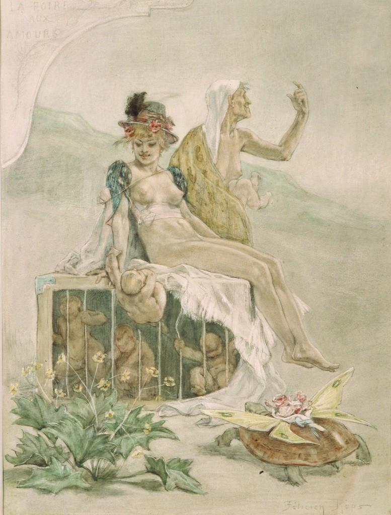 Rops 1885 la Foire aux Amour Musee Rops Namur