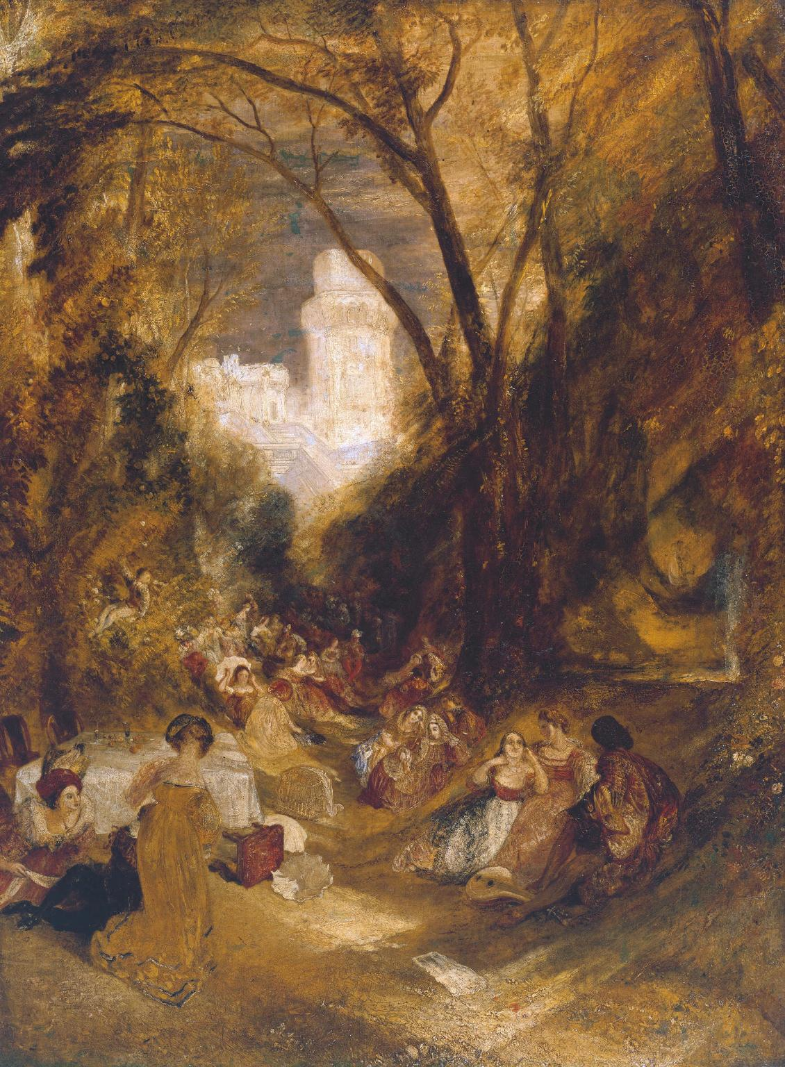 Boccaccio Relating the Tale of the Bird-Cage exhibited 1828 by Joseph Mallord William Turner 1775-1851