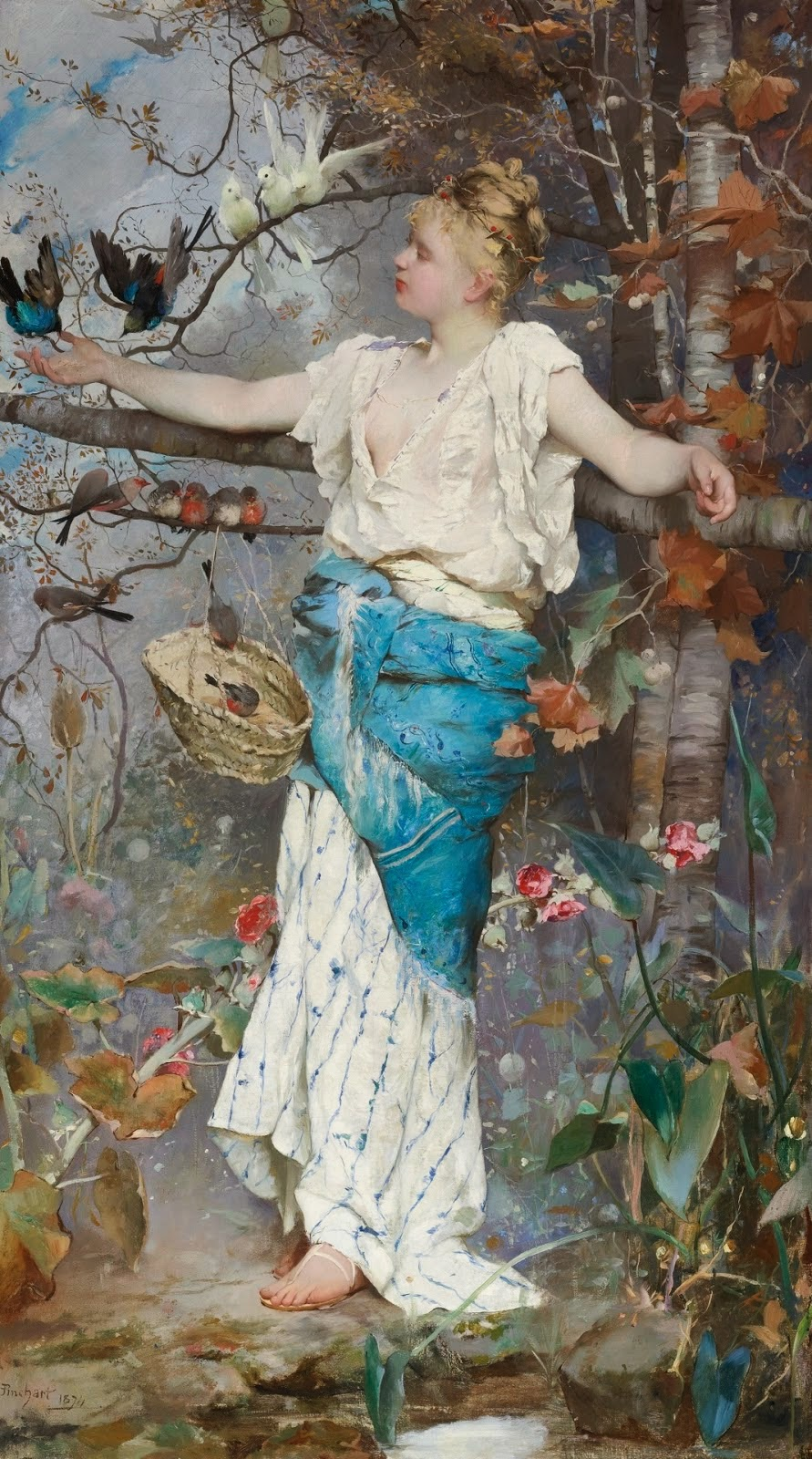 fantaisie d'automne Emile Auguste Pinchart 1874 Coll part