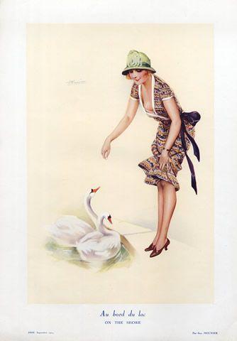 suzanne-meunier-1924-au-bord-du-lac-Eros Magazine