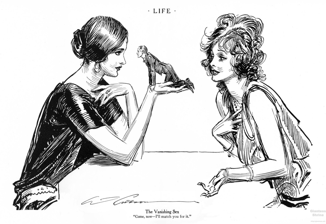 Charles Dana Gibson s Life illustration The Vanishing Sex
